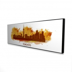 Framed 16 x 48 - 3D - Paint splash silhouette of toronto