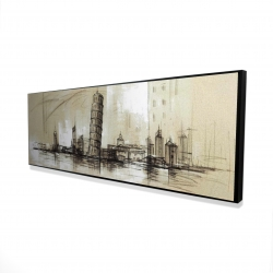 Framed 16 x 48 - 3D - Pise tower sketch