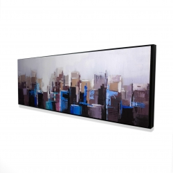Framed 16 x 48 - 3D - Abstract cold city