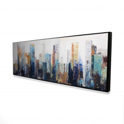 Framed 20 x 60 - 3D - Texturized abstract city