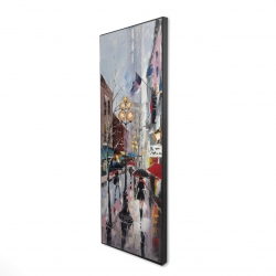 Framed 16 x 48 - 3D - Rainy day in new york
