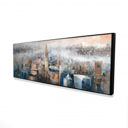 Framed 16 x 48 - 3D - Cityscape of new york with the chrysler building
