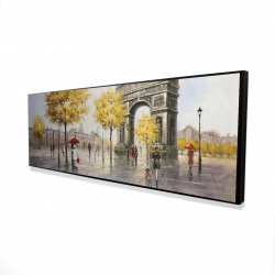 Framed 16 x 48 - 3D - Arc de triomphe to paris