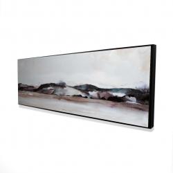 Encadré 16 x 48 - 3D - Montagnes en aquarelle