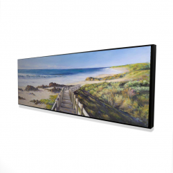 Framed 16 x 48 - 3D - Walk to the seaside