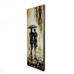 Framed 16 x 48 - 3D - Couple under the rain
