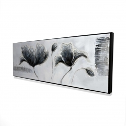Framed 16 x 48 - 3D - Industrial style flowers