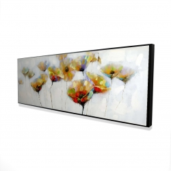 Framed 16 x 48 - 3D - Color spotted flowers