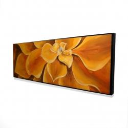 Framed 16 x 48 - 3D - Orange flower closeup
