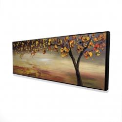 Framed 16 x 48 - 3D - Fall tree