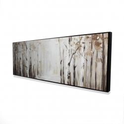 Framed 16 x 48 - 3D - Winter forest