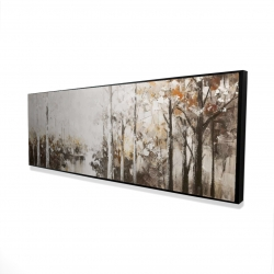 Framed 16 x 48 - 3D - Abstract white forest