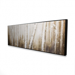Framed 16 x 48 - 3D - Texturized abstract forest