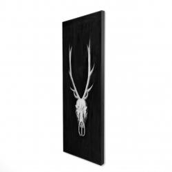 Framed 16 x 48 - 3D - Deer skull on black background