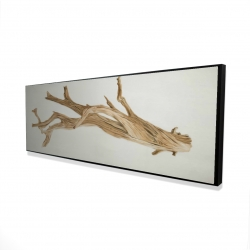 Framed 20 x 60 - 3D - Floated wood