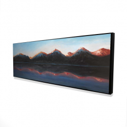 Framed 16 x 48 - 3D - Mountains landscape