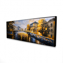 Framed 16 x 48 - 3D - Bridge by a sunny day