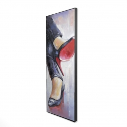 Framed 16 x 48 - 3D - Crossed legs and high heels