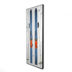 Framed 16 x 48 - 3D - Vintage blue ski