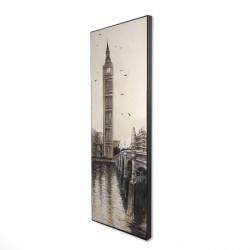 Framed 16 x 48 - 3D - Big ben in london
