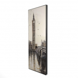 Framed 16 x 48 - 3D - Big ben in london