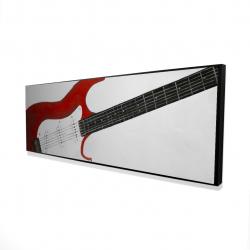 Framed 16 x 48 - 3D - Red rock guitar