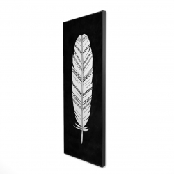 Framed 16 x 48 - 3D - Feather with patterns