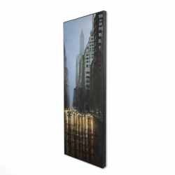 Framed 16 x 48 - 3D - Evening in the streets of new-york city
