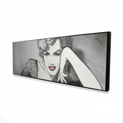 Framed 16 x 48 - 3D - Vintage style marilyn monroe