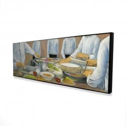 Framed 16 x 48 - 3D - Cook chefs at work