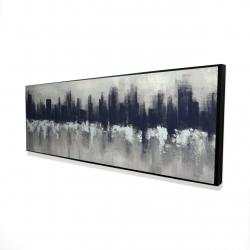 Framed 16 x 48 - 3D - Dark city