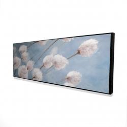 Framed 16 x 48 - 3D - Delicate cotton flowers