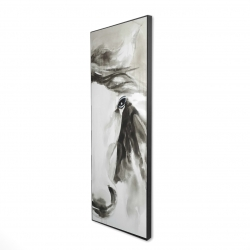 Framed 16 x 48 - 3D - Beautiful abstract horse