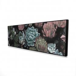Framed 16 x 48 - 3D - Succulent set