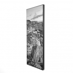 Framed 16 x 48 - 3D - Manarola in italy