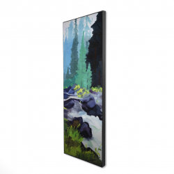 Framed 16 x 48 - 3D - Beautiful waterfall