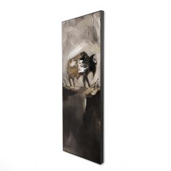 Framed 16 x 48 - 3D - Abstract buffalo
