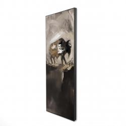 Framed 16 x 48 - 3D - Abstract buffalo