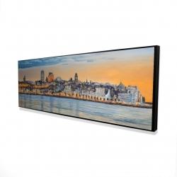 Framed 16 x 48 - 3D - Skyline of quebec city