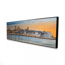 Framed 16 x 48 - 3D - Skyline of quebec city