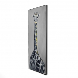 Framed 16 x 48 - 3D - Steel blue giraffe