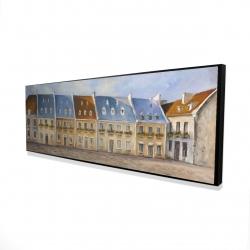 Framed 16 x 48 - 3D - Old quebec city