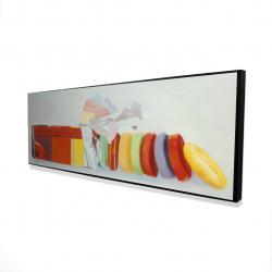 Framed 16 x 48 - 3D - Colorful pastilles