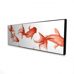 Framed 20 x 60 - 3D - Small red fishes