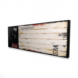 Framed 16 x 48 - 3D - Wood looking art with numbers