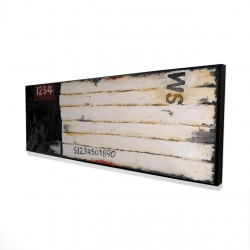 Framed 16 x 48 - 3D - Wooden pallets looking art with numbers