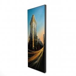 Framed 16 x 48 - 3D - Flatiron building in light