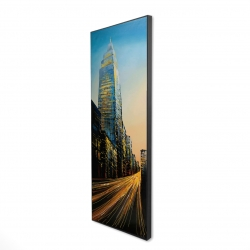 Framed 16 x 48 - 3D - In the street of empire state building