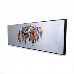 Framed 16 x 48 - 3D - Cycling competition