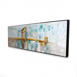 Framed 16 x 48 - 3D - Brooklyn bridge